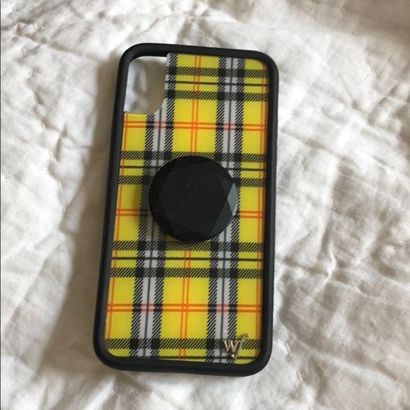 quality design aed71 10023 Wildflower iPhone X yellow tartan case
